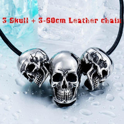 Punk 3 Skulls Necklace