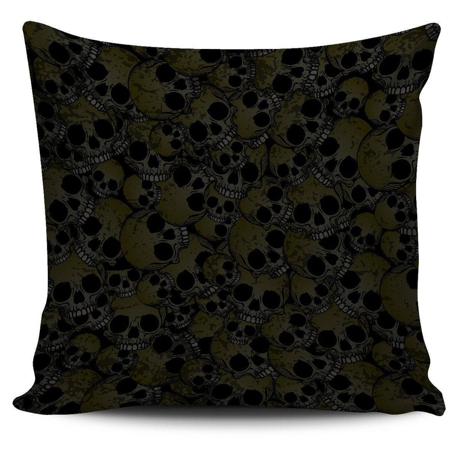 Skull Pattern Pillow Cover - American Legend Rider