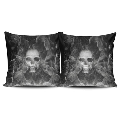 Smoked Skulls Pillow Cover
