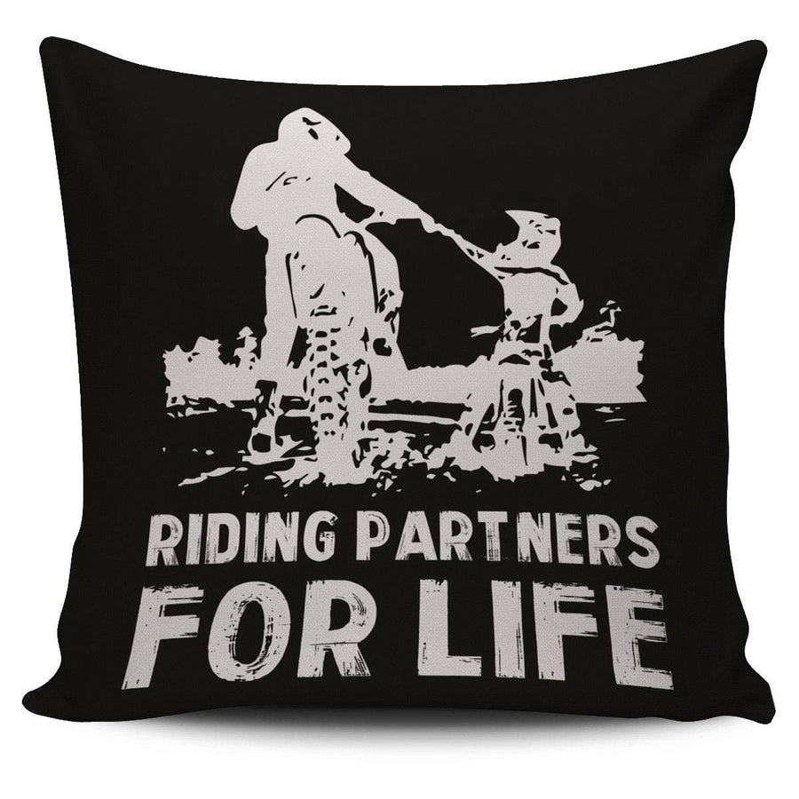 Riding Partners For Life Pillow Cover