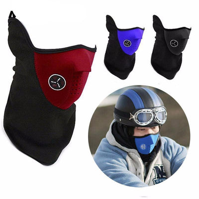 Half Face Dual Color Biker Mask, 9.4 x 9.8 in
