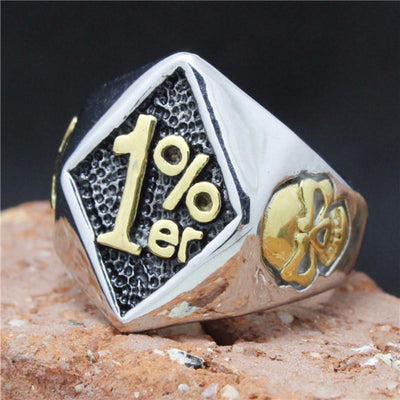 Gold 1%ER MAN RING