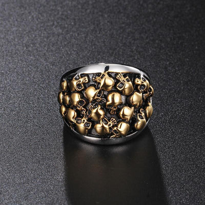 Stainless Steel Bikers Skeleton Ring