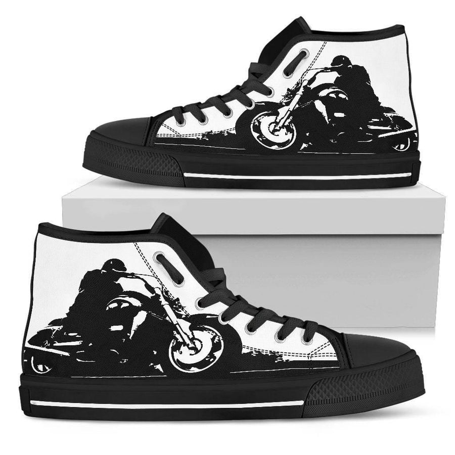 Biker Sillhouette High Top Shoes