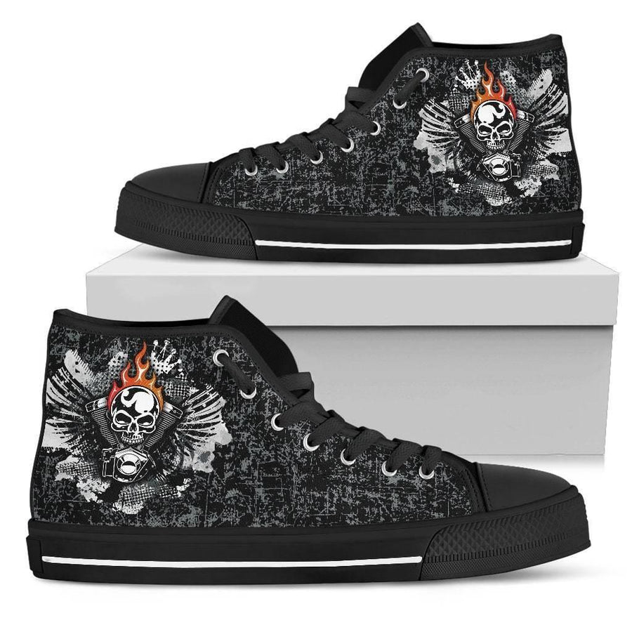 Women's Piston Skull High Top Shoes