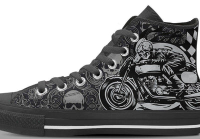 Women's Skull Rider High Top Shoes