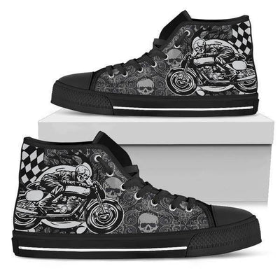 Skull Rider High Top Shoes