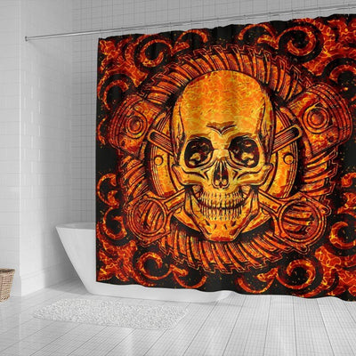 Death Skull Shower Curtain