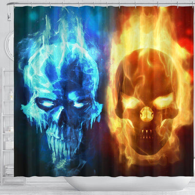 Duo Skull Shower Curtain