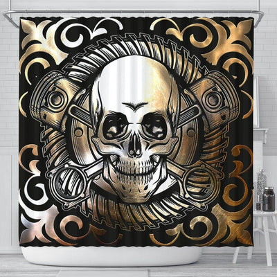 Gothic Skull Shower Curtain