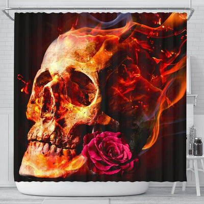 Romantic Skull Shower Curtain