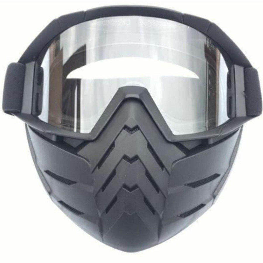 Motorcycle Goggles Mask w/ Detachable Face Shield - American Legend Rider