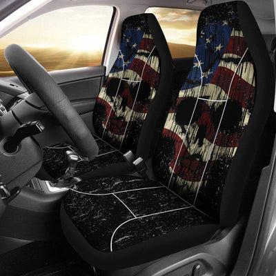 Shredded Skull Car Seat Cover