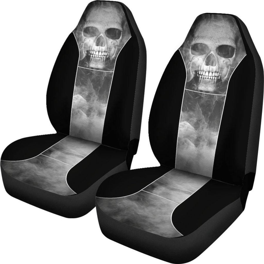 Smoked Skull Car Seat Covers