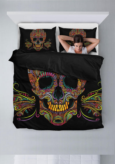 Skull Butterfly Bedding Set