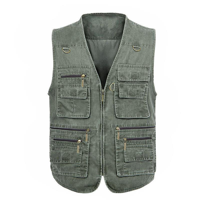 Multi-Pocket Casual Vest Motorcycle Vest