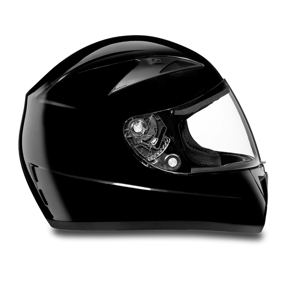 Daytona D.O.T Shadow Glossy Black Helmet