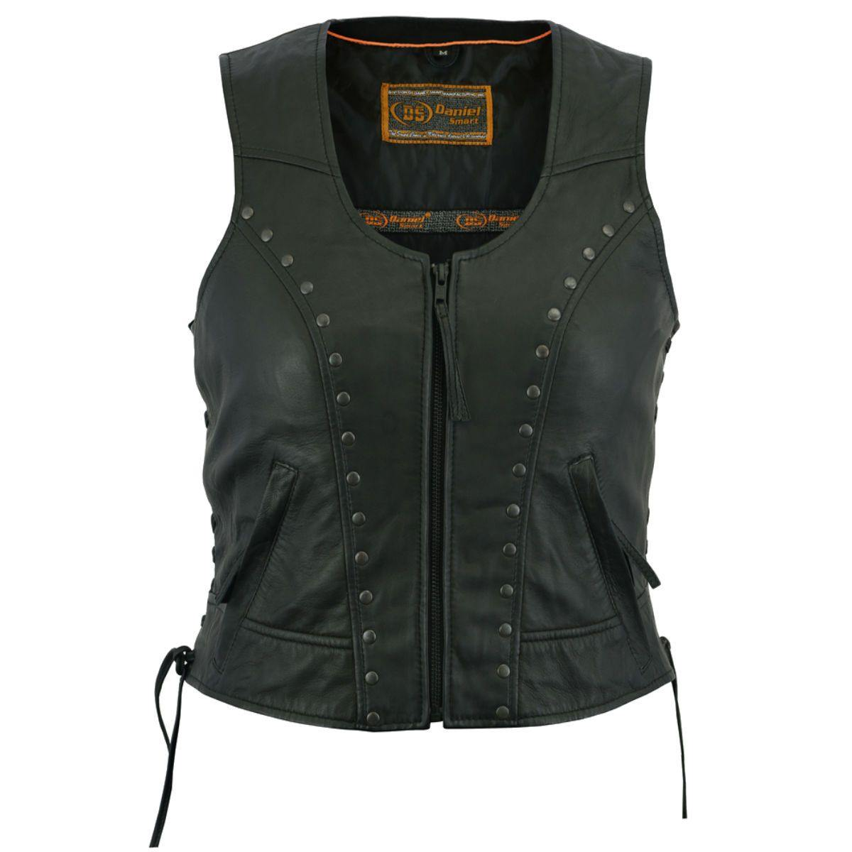 Daniel Smart Women's Lightweight Vest with Rivets Detailing