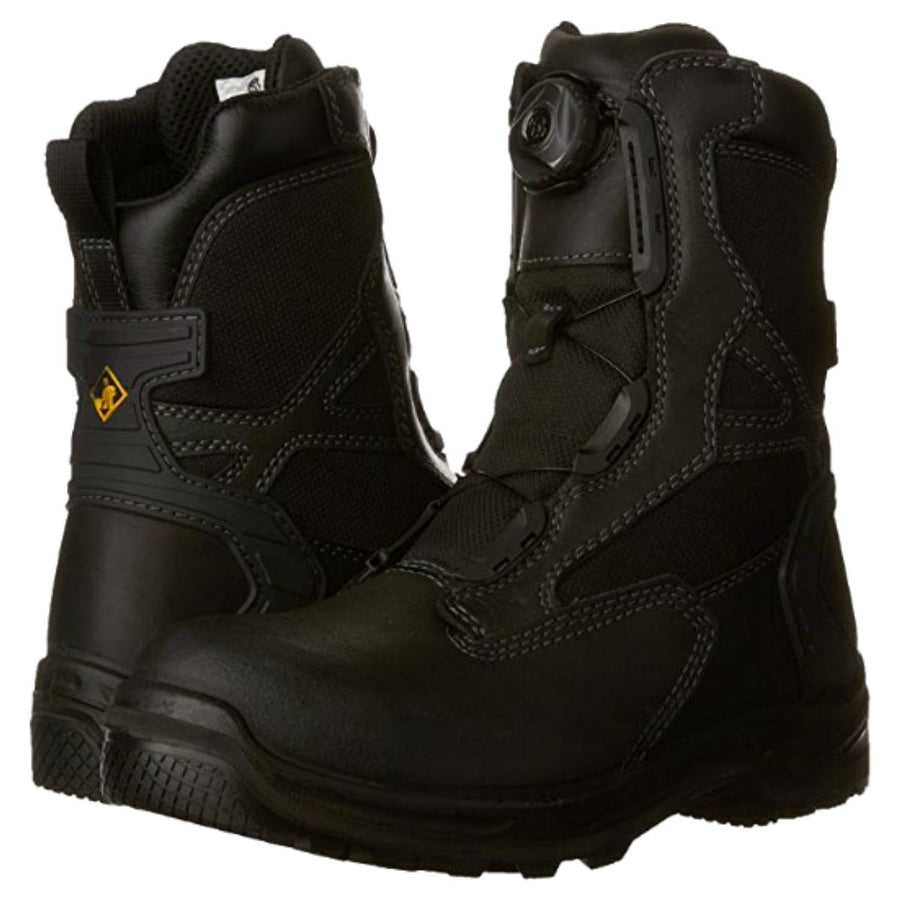 Terra Rexton BOA® Csa Leather Motorcycle & Work Boots, Waterproof, Black