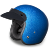 D.O.T. Cruiser Blue Metal Flake Helmet