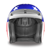 Daytona D.O.T. Cruiser States of America Motorcycle Open Face Helmet, Blue/White/Red - American Legend Rider