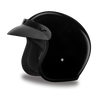 D.O.T Hi-Gloss Cruiser Black Helmet