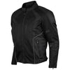 Vance Leather Men's Black Mesh Motorcycle Jacket with CE Armor