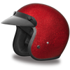 D.O.T. Cruiser Red Metal Flake Helmet