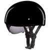 D.O.T. Skull Cap Hi-Gloss Black Helmet with Inner Shield