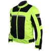 Vance Leather Advanced 3-Season Hi-Vis Mesh/Textile CE Armor Motorcycle Jacket