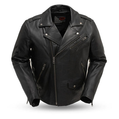 First Manufacturing Enforcer Motorcycle Black Leather Jacket