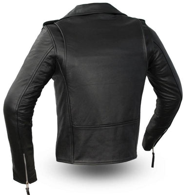 First Manufacturing Rockstar - Women's Motorcycle Leather Jacket, Black