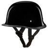 D.O.T. German Hi-Gloss Black Helmet