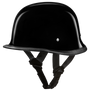 Daytona D.O.T German Hi-Gloss Black Helmet - American Legend Rider