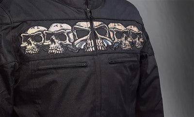 First Manufacturing Immortal Reflective Skulls Motorcycle Jacket