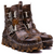Rustic Skull Leather Boots
