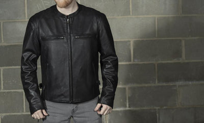First Manufacturing Indy Motorcycle Leather Jacket