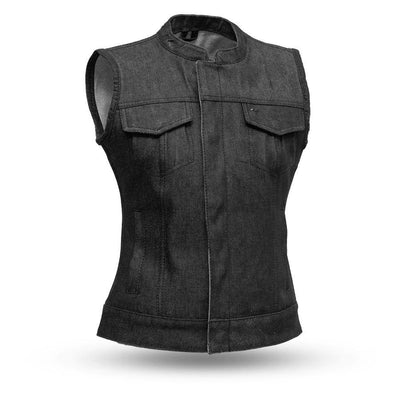 First Manufacturing Ludlow Denim Motorcycle Vest
