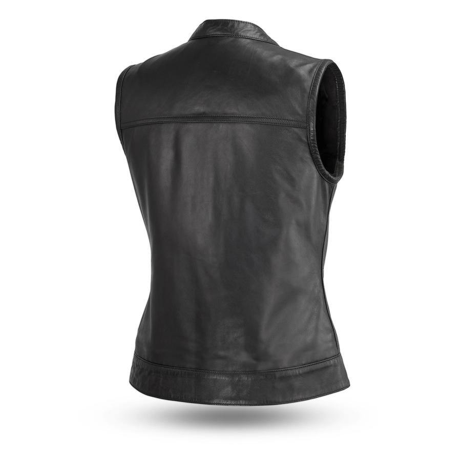 First Manufacturing Ludlow Leather Vest - American Legend Rider