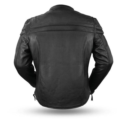First Manufacturing Maverick - Men's Motorcycle Leather Jacket, Black