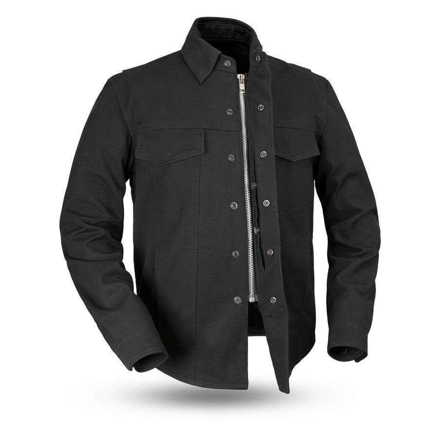 First Manufacturing Mercer Motorcycle Canvas Jacket