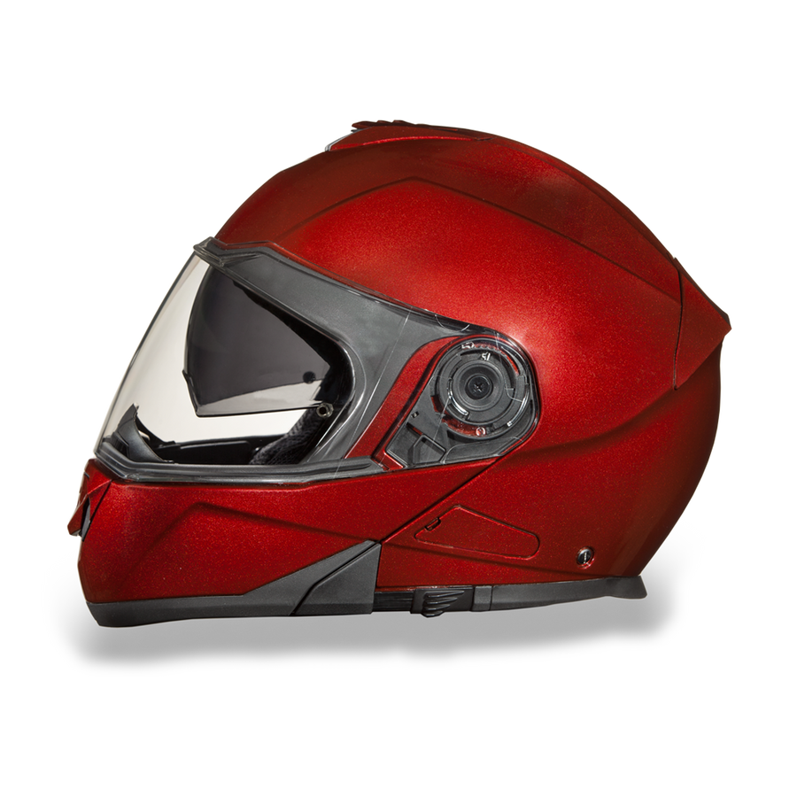 D.O.T Glide Black Cherry Metallic Helmet
