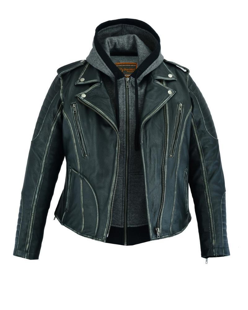 Daniel Smart M/C Leather Jacket w/ Rub-Off Finish