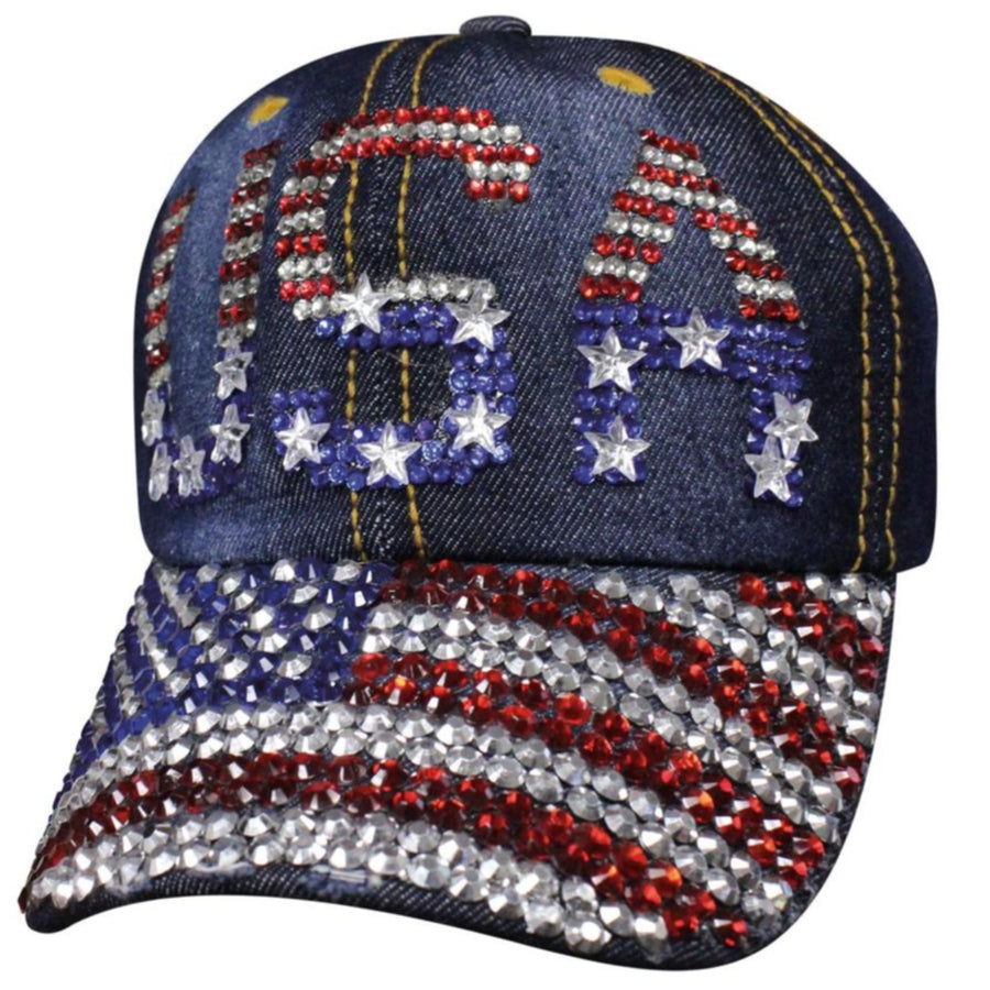 Daniel Smart Denim USA Bling Cap, Blue