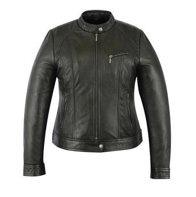 Daniel Smart Stylish Fashion Motorcycle Black Leather Jacket