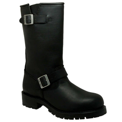 Daniel Smart Black Engineer Soft Leather Boots