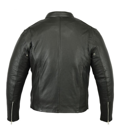 Daniel Smart Cruiser Motorcycle Leather Jacket w/ Removable Hoodie