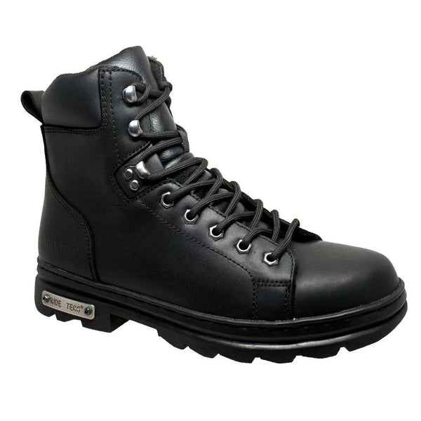 "Daniel Smart Men's 6"" Zipper Lace Biker Boots"