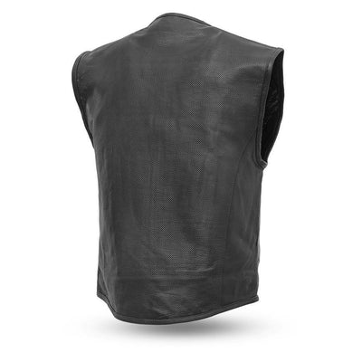 First Manufacturing Raceway Leather Vest, Black