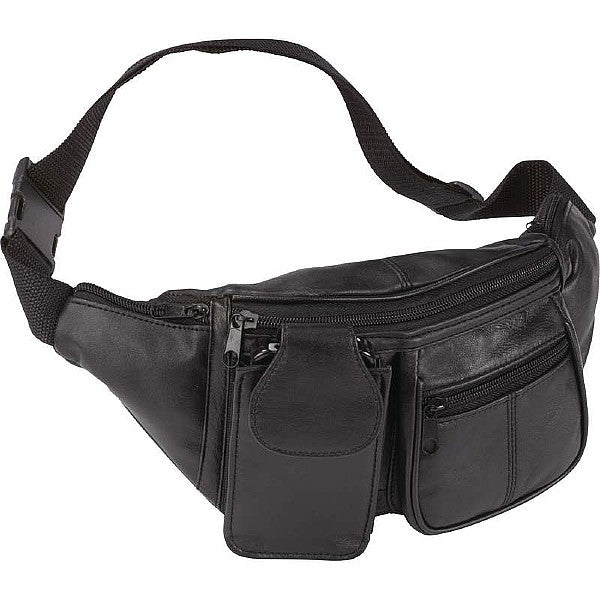 Jillian Genuine Lambskin Leather 6-Pocket Waist Bag
